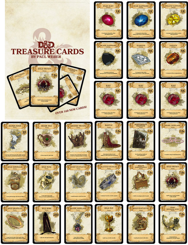 Forgotten Dm Dungeons Dragonstreasure Cards By Paul Weber